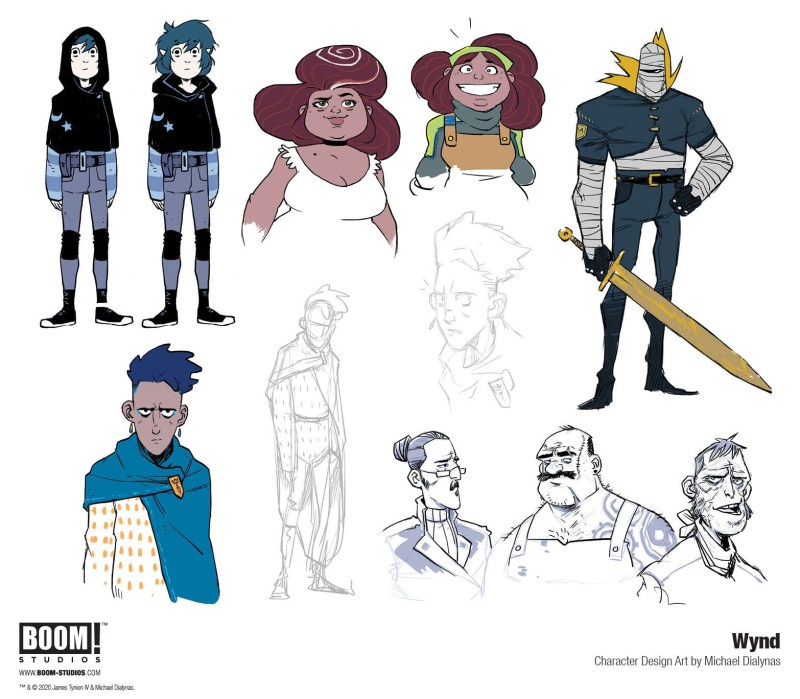 Wynd #1 Character Designs