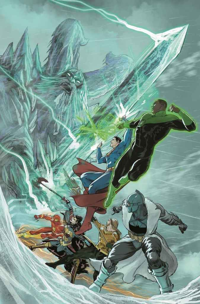 Justice League: Endless Winter Special #2 (December 29), with art by Howard Porter, Carmine Di Giandomenico and Marco Santucci, and cover by Mikel Janin