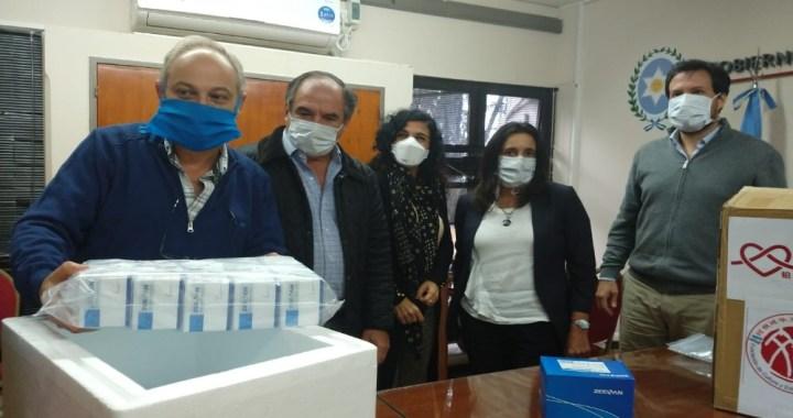 Salta se equipa con reactivos donados por chinos y cámaras de desinfección