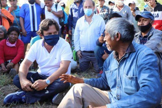 Sáenz se sentó con los originarios, pero no pudo resolver el conflicto