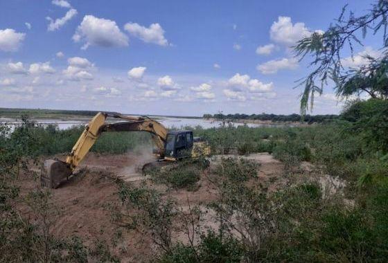 Recursos Hídricos prepara defensas por crecimiento del cauce en el Río Pilcomayo