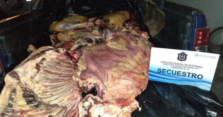 Incautaron 400 kilos de carne que era transportada en malas condiciones