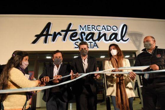 Sáenz, Romero y Lammens inauguraron la refacción y ampliación del Mercado Artesanal