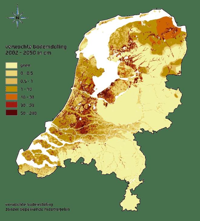 Deltares_VerwachteBodemdalingNL2002-2050