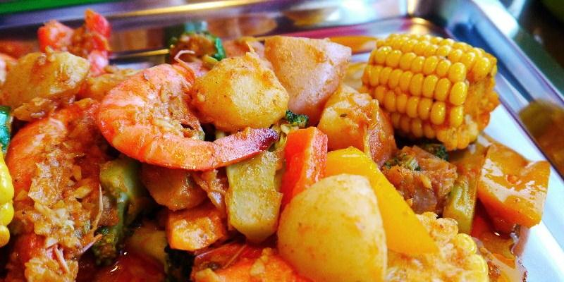 神奇艾米美式麻辣海鮮,獨特的用餐方式,穿著圍兜跟手套直接豪邁的吃吧!(台中美式餐廳/台中麻辣海鮮)