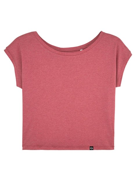 Camiseta holgada de algodón orgánico arándano