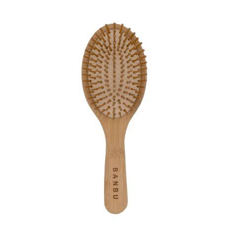Cepillo de madera de bambú y caucho