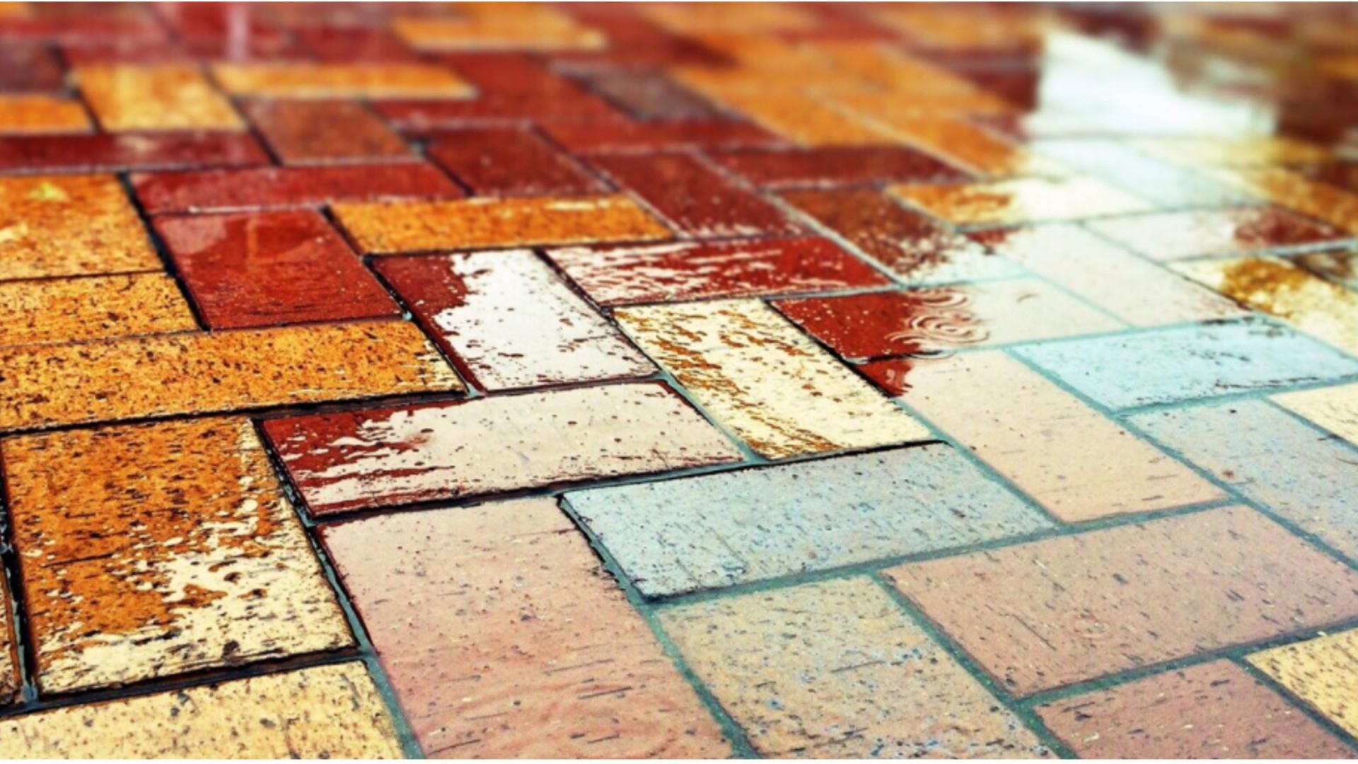 Mantener limpios los suelos de ladrillo1920