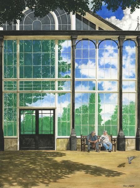 The Derbyshire Trophy: Pavilion Reflection by Mark Langley