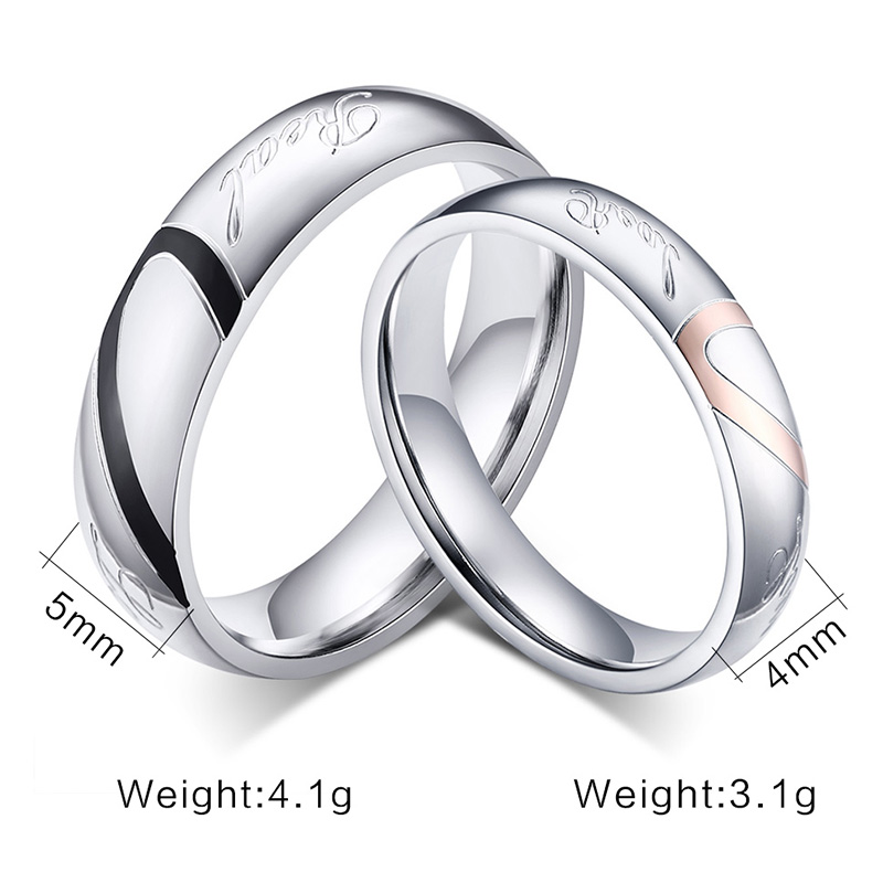 Fashion Heart Ring His And Her Promise Rings Sets