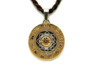 8 Auspicious Symbols with HRIH Seed Syllable Medallion