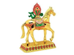 Tibetan Brass Windhorse for Victory and Success Luck