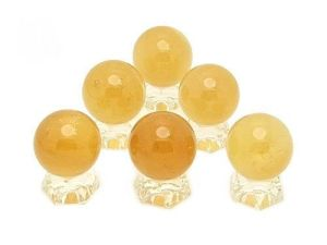 Six Smooth Citrine Crystal Balls