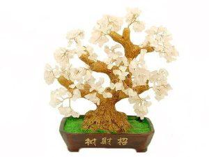 10 Inch Rose Quartz Crystal Feng Shui Tree1