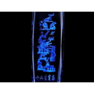 12 Zodiac Animals 3D Laser Engraved Glass with Light Base1
