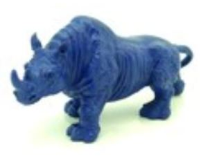 6 Inch Blue Rhinoceros for Burglary Protection