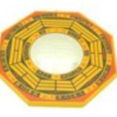 7 Inch Yellow Convex Mirror Ba Gua