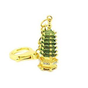 7 Level Golden Pagoda Key Chain