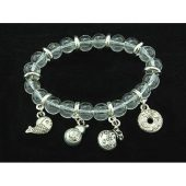 8mm Clear Quartz Crystal Bracelet with Auspicious Charms1