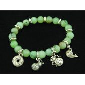 8mm Prehnite Crystal Bracelet with Auspicious Charms1