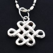 925 Silver with Zircon Mystic Knot Pendant