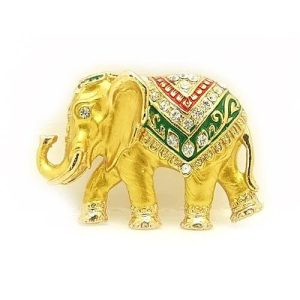 Bejeweled Elephant Brooch1