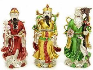 Bejeweled Fuk Luk Sau Three Star Deities