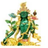 Bejeweled Green Tara Savior Goddess