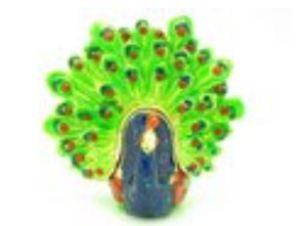 Bejeweled Miniature Wish-Fullfilling Peacock