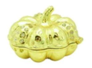 Bejeweled Wish-Fulfilling Pumpkin for Prosperity