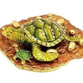 Bejeweled Wish Fulfilling Tortoise with Babies and Golden Eggs1