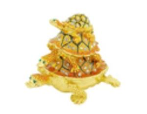 Bejeweled Wishfulfilling Three Tier Tortoise for Harmony