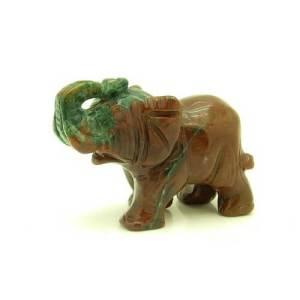 Bloodstone Crystal Elephant Figurine1
