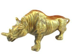 Brass Protective Rhinocerous