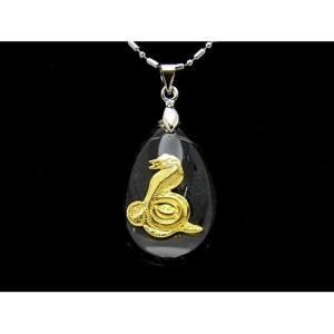 Chinese Horoscope Snake Pendant Necklace1