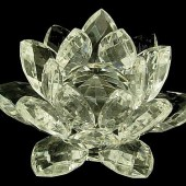 Clear High Grade Crystal Lotus Blossom Flower - 30mm1