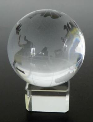 Feng Shui Crystal Globe Improve Education Luck (50mm)