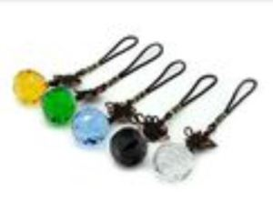Feng Shui Five Element Faceted Crystal Ball (Complete Set)