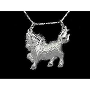 Fine Silver Protective Chi Lin Pendant Necklace1