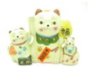 Fortune Cats Piggy Bank