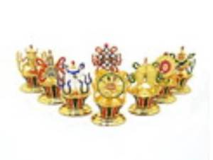 Golden 8 Auspicious Objects Set