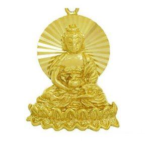 Golden Amitabha Buddha Key Chain1