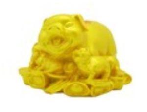 Golden Happy Pig Family