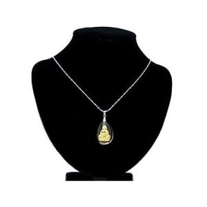 Golden Kuan Yin Goddess of Mercy Pendant Necklace1