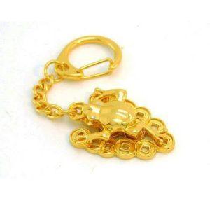 Golden Money Frog Keychain for Wealth Luck1