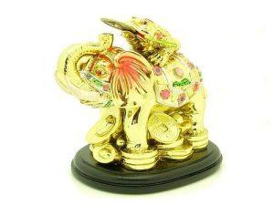 Golden Money Frog On Wish Fulfilling Elephant1