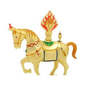 Golden Wind Horse Lung Ta Carrying Flaming Jewel1