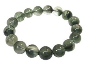 High Grade Green Phantom Round Bracelet for Career Luck