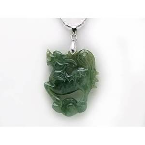 Jade Chi Lin Pendant with Chain1