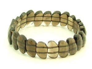 Leaf-Shaped Faceted Smoky Quartz Beads Bracelet1